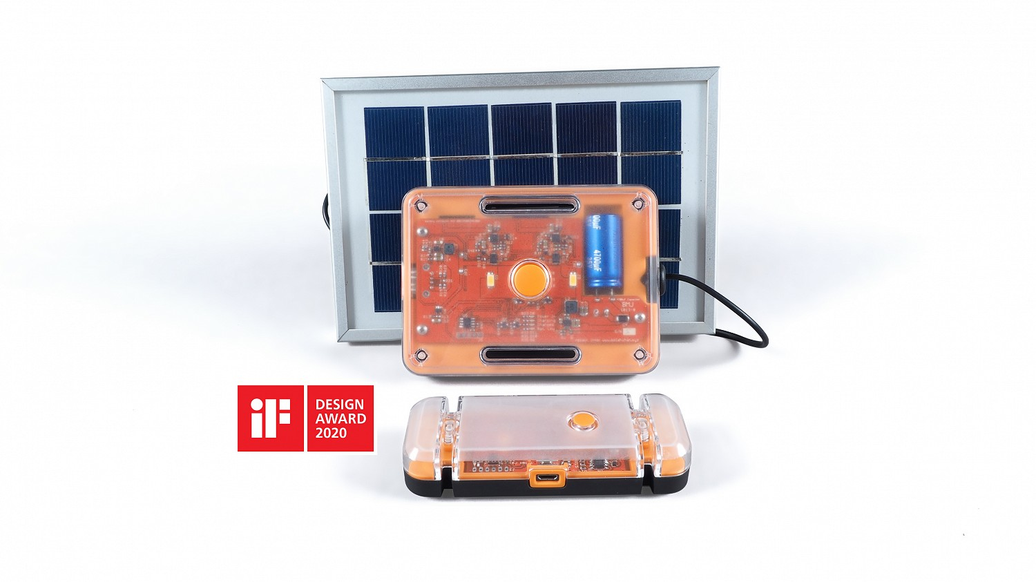 The Solar What device - a fully repairable, recyclable solar-powered light and charger